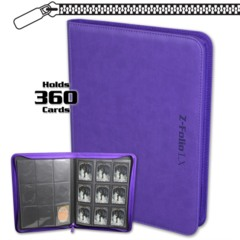 BCW Gaming Z-FOLIO 9-POCKET LX ALBUM - PURPLE