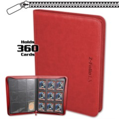 BCW Gaming Z-FOLIO 9-POCKET LX ALBUM - RED