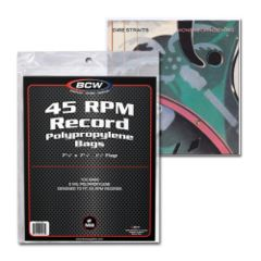 BCW 45 RPM BAGS - 7 3/8 X 7 5/8 - Pack of 100