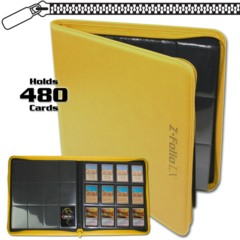 BCW Gaming Z-FOLIO 12-POCKET LX ALBUM - YELLOW