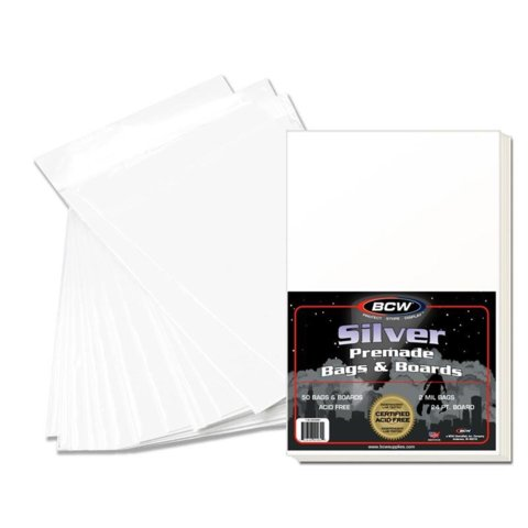 BCW PREMADE SILVER BAG AND BOARD - Pack of 50