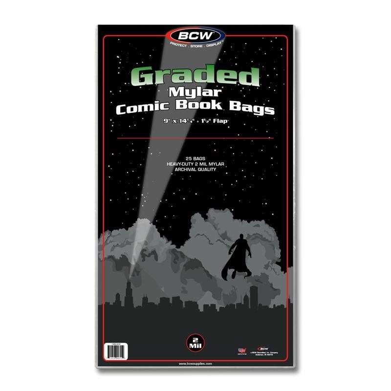 BCW GRADED COMIC MYLAR - 2 Mil - Pack of 25