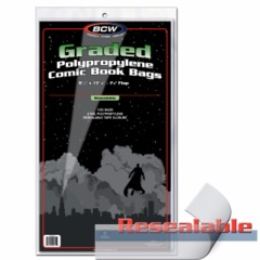 BCW GRADED COMIC BAG - RESEALABLE - 9 X 14 - 1-BAG-GC1-R - Pack of 100