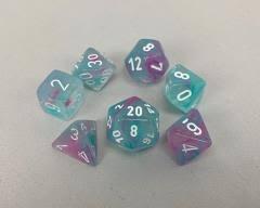 Nebula Wisteria/White Polyhedral 7 Dice Set - CHX30033