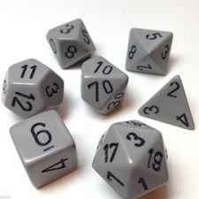 Opaque Dark Grey / Black 7 Dice Set - CHX25410