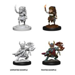 Nolzur's Marvelous Miniatures - Female Halfling Fighter