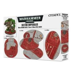 Warhammer 40k: Sector Imperialis 60mm Round Bases. 75mm & 90mm Oval Bases