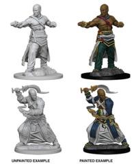 72612 Pathfinder Deep Cuts Unpainted Miniatures: Human Male Monk