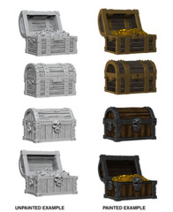 72590 WizKids Deep Cuts Unpainted Miniatures: Chests