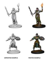 72599 Pathfinder Deep Cuts Unpainted Miniature: Elf Female Fighter