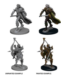 72598 Pathfinder Deep Cuts Unpainted Miniatures: Elf Male Fighter