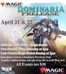 Dominaria Midnight Pre-release Tournament Registration 4-21-2018 - 12:00am