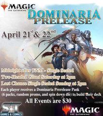 Dominaria 1:00pm Saturday 2HG Pre-release Tournament Registration 4-21-2018