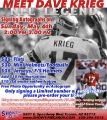 Meet & Greet with Dave Krieg - NFL Legend (Mini-Helmet/Football)