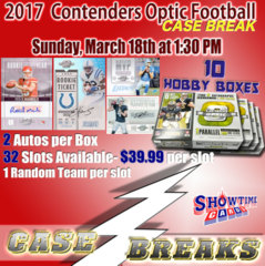 2018 Contenders Optic Football 10 1/2 Case Break Sunday, March 18th at 1:30 PM