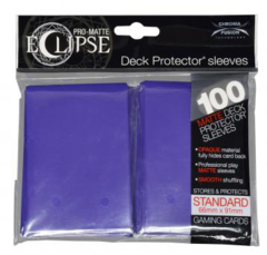 [100] Pro Matte Eclipse: Standard Deck Protector Sleeves [Purple]