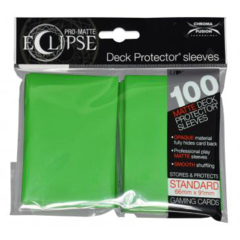 [100] PRO-Matte Eclipse Standard Deck Protector Sleeves [Lime Green]