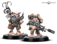 WhQuest Blackstone Fortress Ratling Twins Rein and Raus