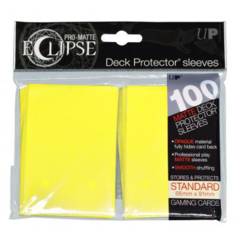 Ultra Pro - Sleeves: PRO-Matte Eclipse Standard Deck Protector Sleeves Yellow