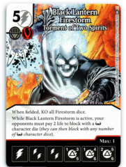 Black Lantern Firestorm - Torment of Two Spirits (Die & Card Combo)