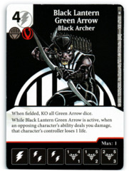 Black Lantern Green Arrow - Black Archer (Die & Card Combo)