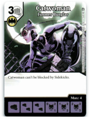 Catwoman - Former Burglar (Die & Card Combo)