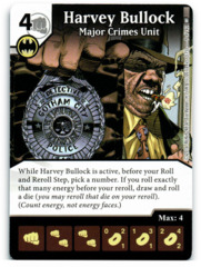 Harvey Bullock - Major Crimes Unit (Die & Card Combo)