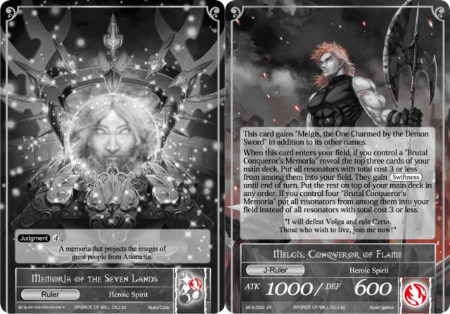 Memoria of the Seven Lands // Melgis, Conqueror of Flame - Uber Rare