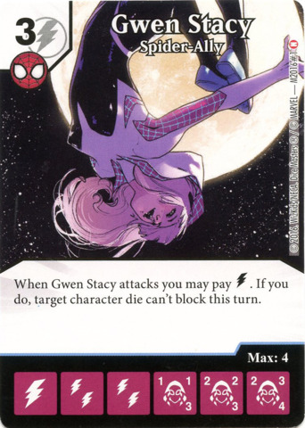 Dice Masters Gwen Stacy Spider-Ally OP LE Promo F2