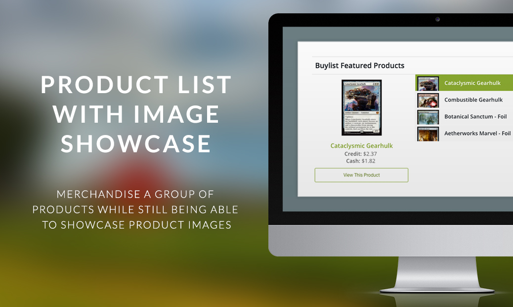 Product List with Image Showcase Display