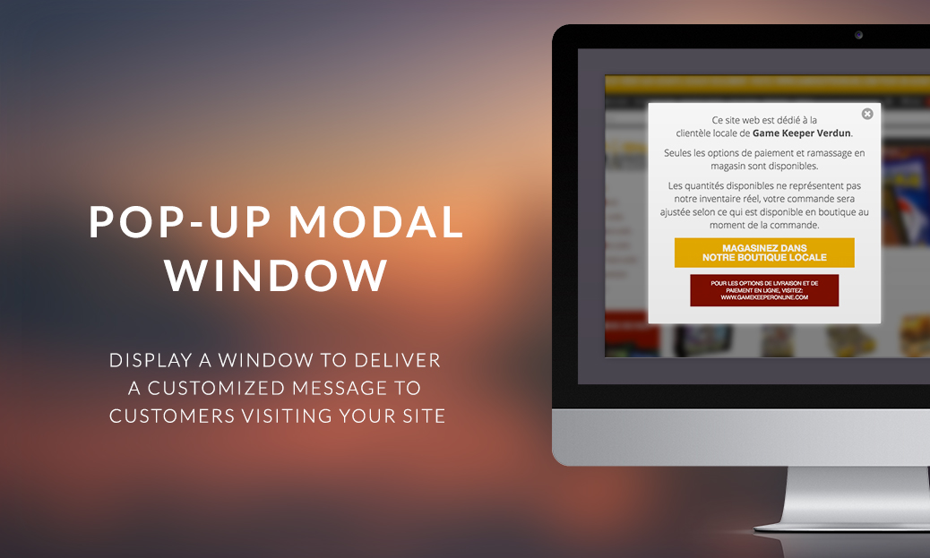 Pop-up Modal Window Widget