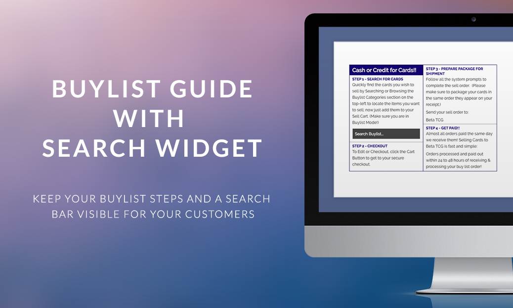 Buylist Guide with Search Widget