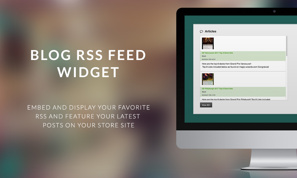 Blog RSS Feed Widget