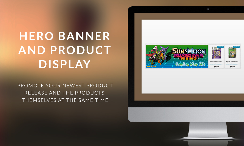 Hero Banner and Product Display