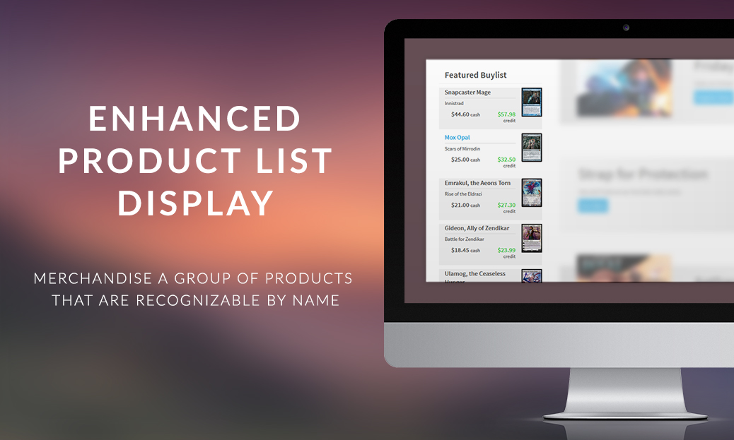 Enhanced Product List Display