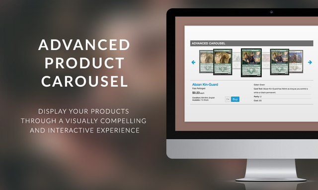 Advanced Product Carousel Display