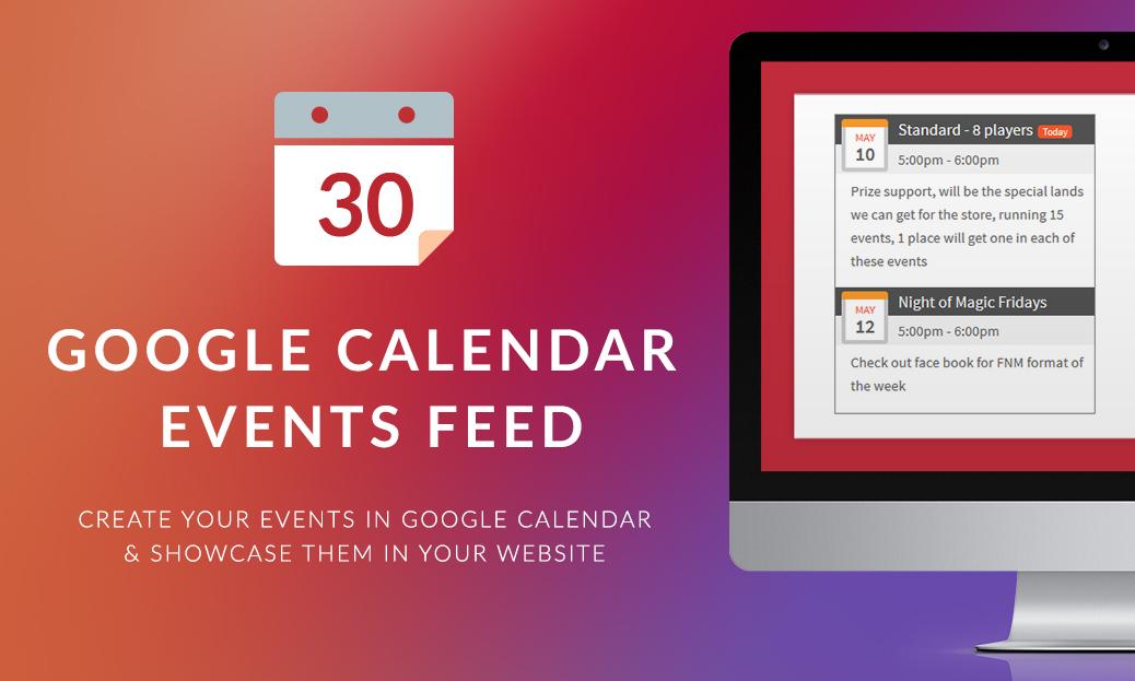 Google Calendar Event Feed Widget