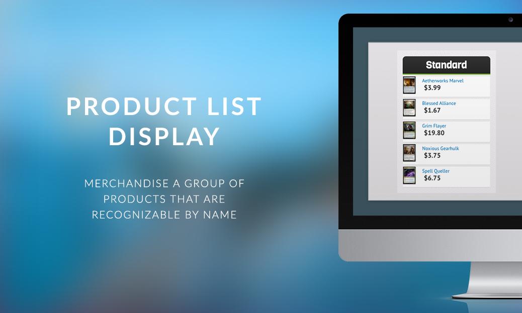 Product List Display