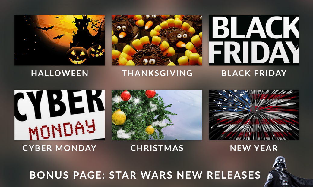 Holiday Promotional Landing Page Bundle