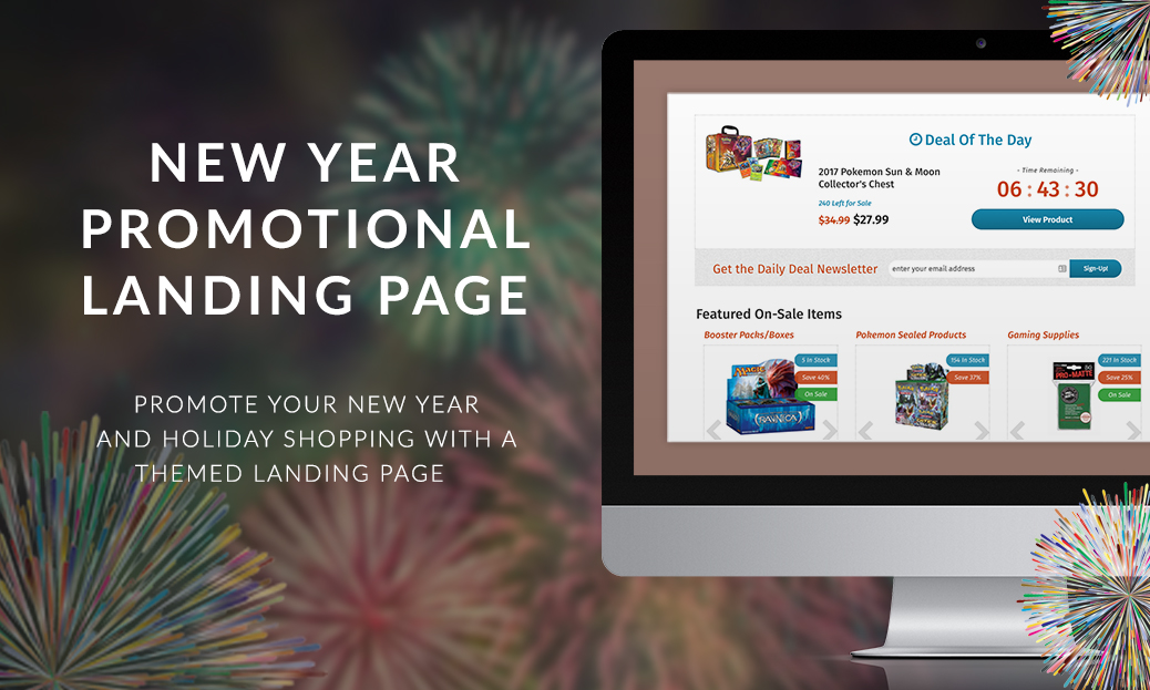 New Year Promotional Landing Page