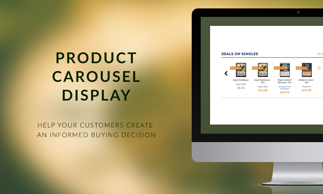 Product Carousel Display