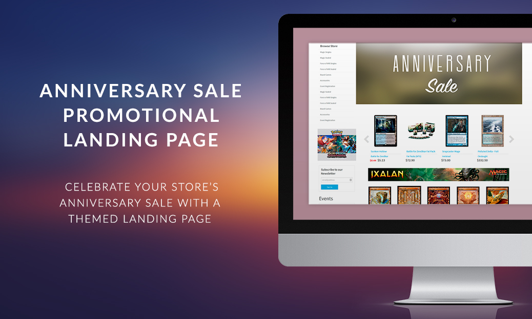 Anniversary Sale Promotional Landing Page