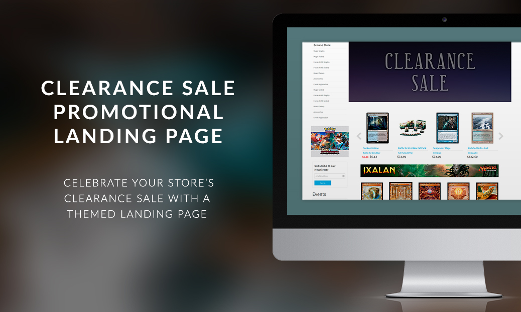 Clearance Sale Promotional Landing Page