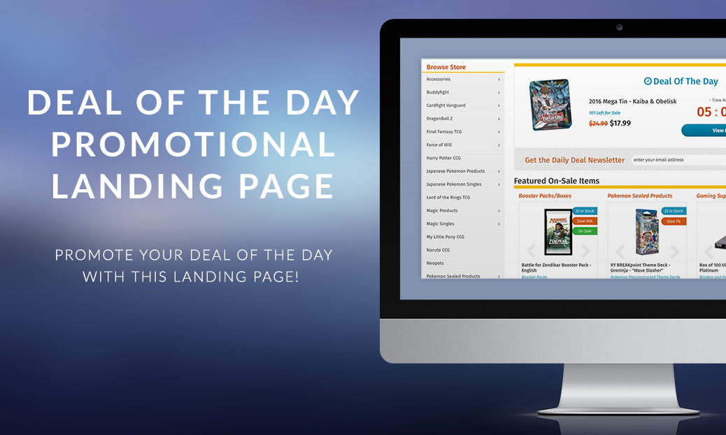 Deal of the Day Promotional Landing Page