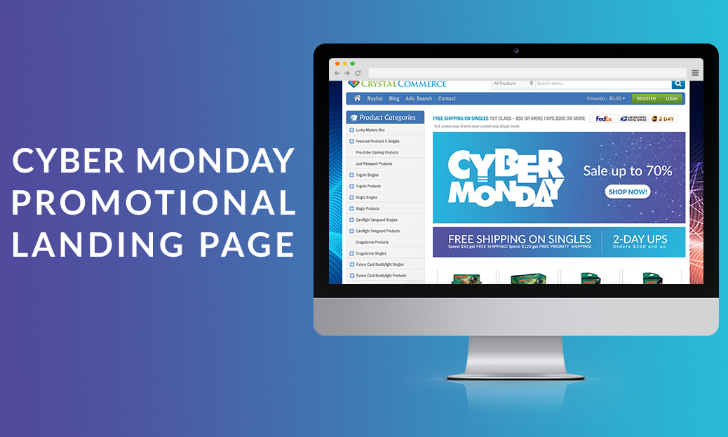 Cyber Monday Promotional Landing Page