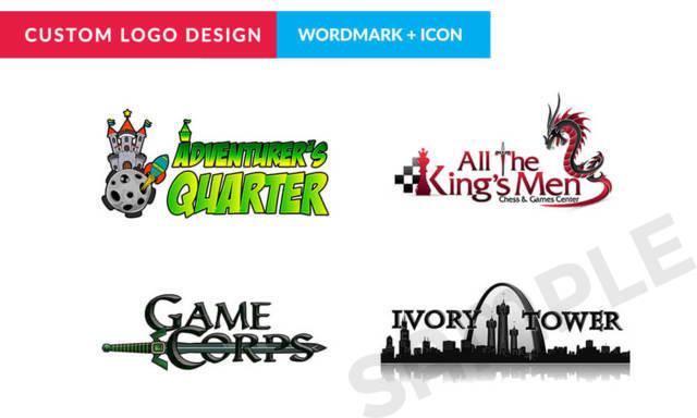Custom Logo Design - Wordmark + Icon + 2 Design Iterations + 100 Business Cards
