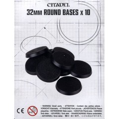 32mm Round Bases (10 Pack)