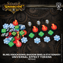 UNIVERSAL EFFECT TOKENS - BLIND, KNOCKDOWN, SHADOW BIND, STATIONARY PIP 91123