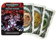 Warhammer 40,000 Psychic Powers Cards - CHaos Daemons