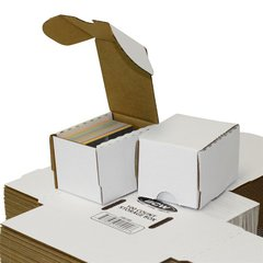 BCW Storage Box 1 Row Assorted Sizes ( 500 / 660 / 800 / 930 ct ) White